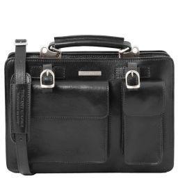 Tania Damenhandtasche aus Leder - Gross Schwarz TL141269