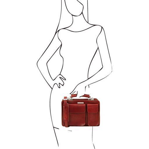 Tania Borsa a mano in pelle da donna Rosso TL141270