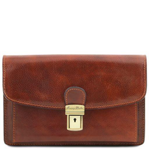 Arthur Exclusive leather handy wrist bag for man Коричневый TL141444