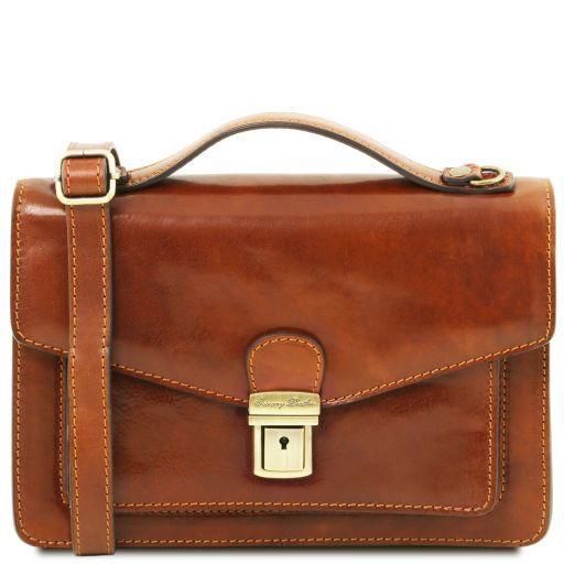 Eric Elegante Herrentasche aus Kalbsleder Honig TL141443