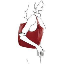 Gina Borsa shopping donna in pelle Rosso TL141357