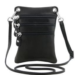 TL Bag Tracollina in pelle morbida Nero TL141368