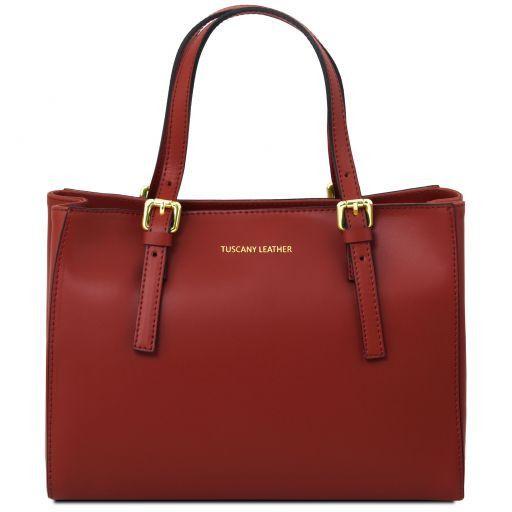 Aura Handtasche aus Leder Rot TL141434