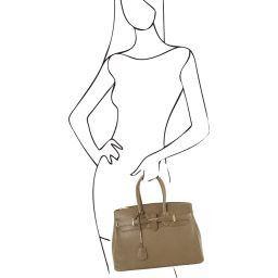 TL Bag Borsa a mano media con accessori oro Talpa scuro TL141529