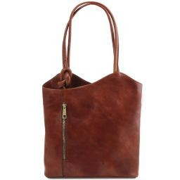 Patty Borsa donna in pelle convertibile a zaino Marrone TL141497