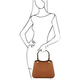 Anna Leather handbag Коньяк TL141684