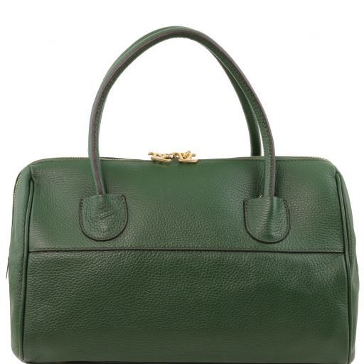 TL Bag Bauletto in pelle con accessori oro Verde scuro TL141210