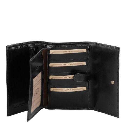 Lederbrieftasche für Damen Schwarz TL140796
