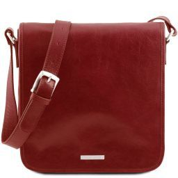 TL Messenger One compartment leather shoulder bag Red TL141260