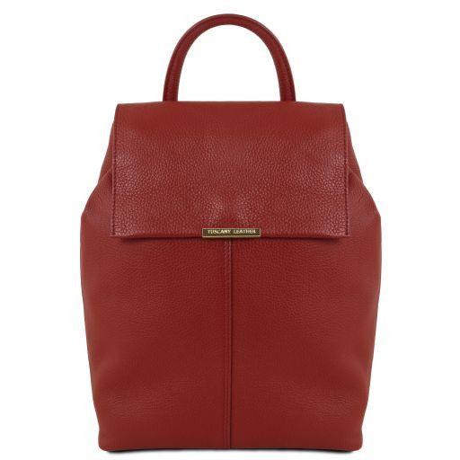 TL Bag Mochila para mujer en piel suave Rojo TL141706