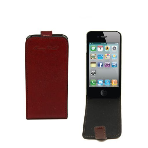 Cover iPhone4/4s in pelle Marrone TL141212