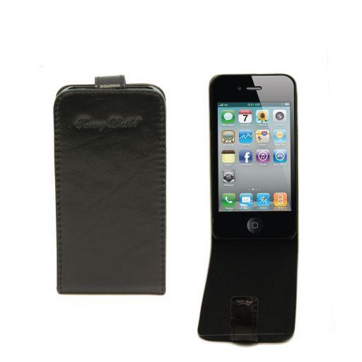 Cover iPhone4/4s in pelle Nero TL141212
