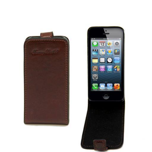 Кожаный чехол для iPhone 5 Коричневый TL141213