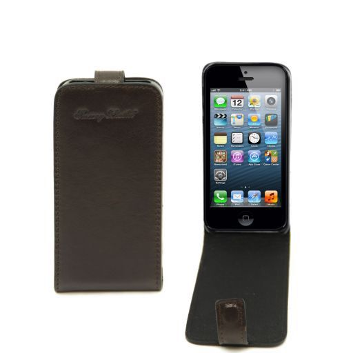 Cover per iPhone 5 in pelle Testa di Moro TL141213
