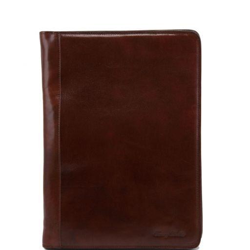 Lucio Эксклюзивная кожаная папка для документов с кольцами Коричневый TL141215
