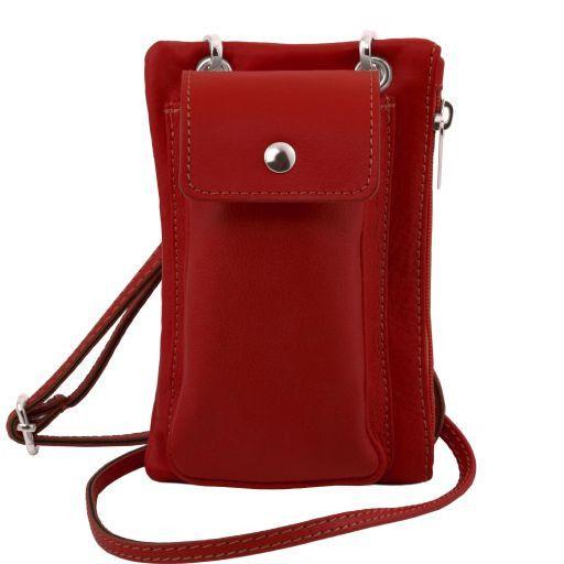 TL Bag Mini Schulter-Handytasche aus weichem Leder Rot TL141423