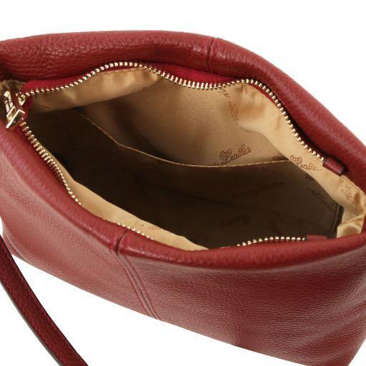 TL Bag Umhängetasche aus weichem Leder Rot TL141720