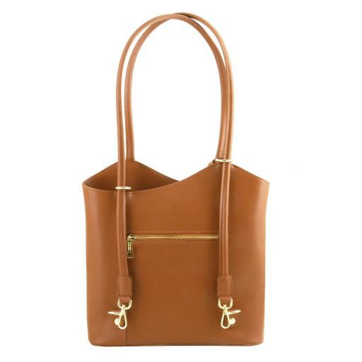 Patty Saffiano leather convertible bag Cognac TL141455