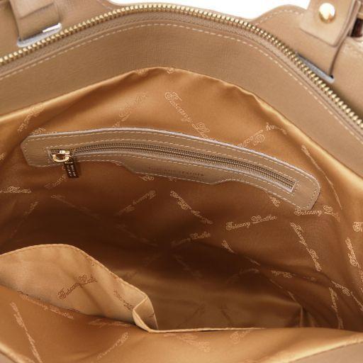 TL Bag Sac cabas en cuir Saffiano Caramel TL141696