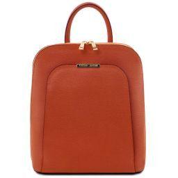 TL Bag Zaino donna in pelle Saffiano Brandy TL141631