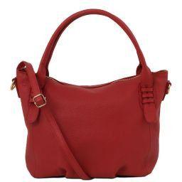 TL Bag Borsa a mano in pelle morbida Rosso TL141705
