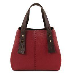 TL Bag Borsa shopping in pelle Rosso TL141730