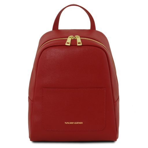 TL Bag Small Saffiano leather backpack for woman Красный TL141701