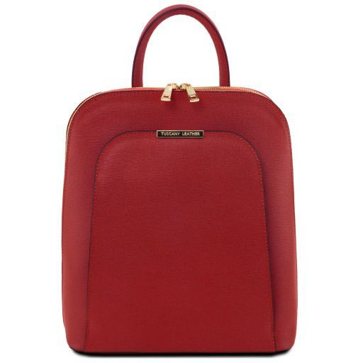 TL Bag Saffiano leather backpack for women Red TL141631