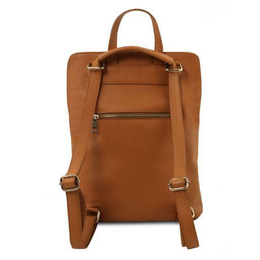 TL Bag Lederrucksack für Damen aus weichem Leder Cognac TL141682