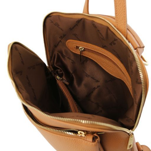 TL Bag Zaino donna in pelle morbida Cognac TL141682