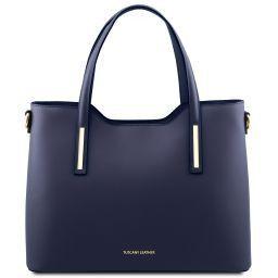 Olimpia Bolso shopping en piel Azul oscuro TL141412