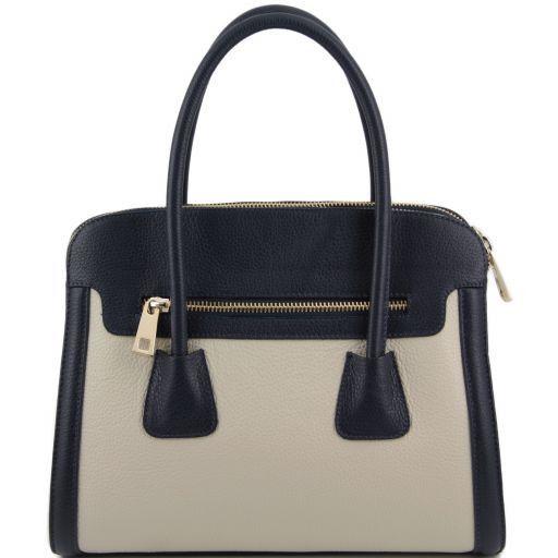 TL Bag Borsa a mano media in pelle bicolore Blu TL141225