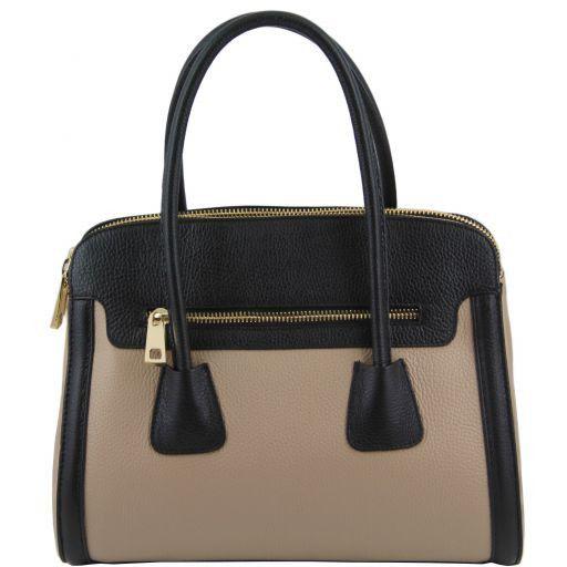Tl Bag Schultertasche Bi Color aus Leder Schwarz TL141225