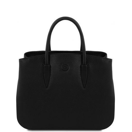 Camelia Leather handbag Black TL141728