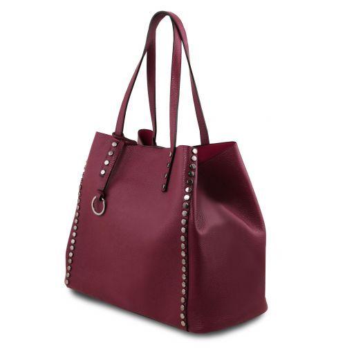 TL Bag Bolso shopping en piel morbida Bordeaux TL141735