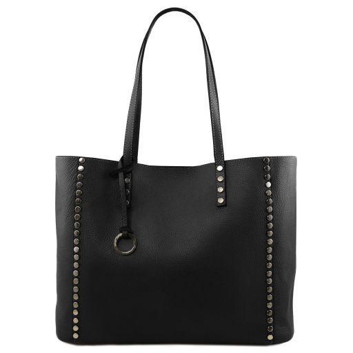 TL Bag Soft leather shopping bag Black TL141735