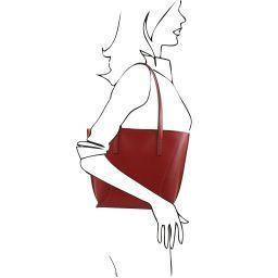 Nemesi Leather shopping bag Красный TL141790