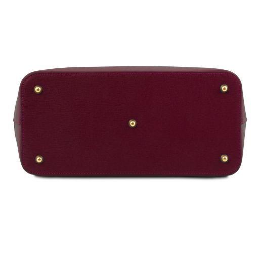 TL Bag Saffiano leather handbag Bordeaux TL141638