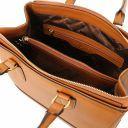 TL Bag Bolso a mano en piel Saffiano Cognac TL141638
