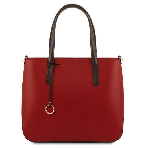 Penelope Sac cabas en cuir Rouge TL141791
