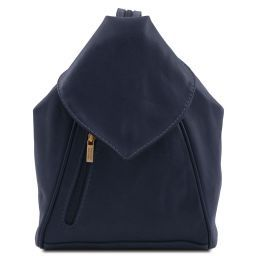 Delhi Leather backpack Dark Blue TL140962