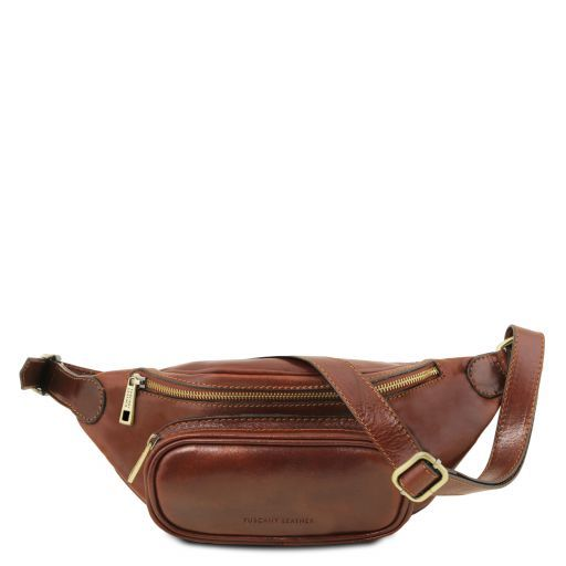 Leather fanny pack Brown TL141797