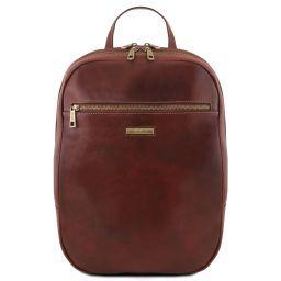 Osaka Кожаный рюкзак для ноутбука с отделением впереди Коричневый TL141711