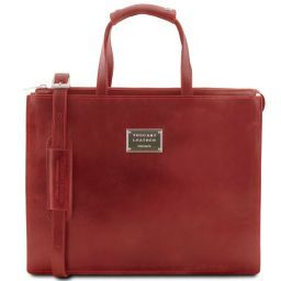 Palermo Leather briefcase 3 compartments for woman Красный TL141343