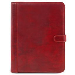 Adriano Leather document case with button closure Red TL141275