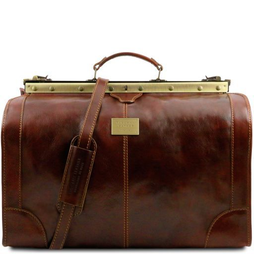 Madrid Gladstone Leather Bag - Large size Brown TL1022