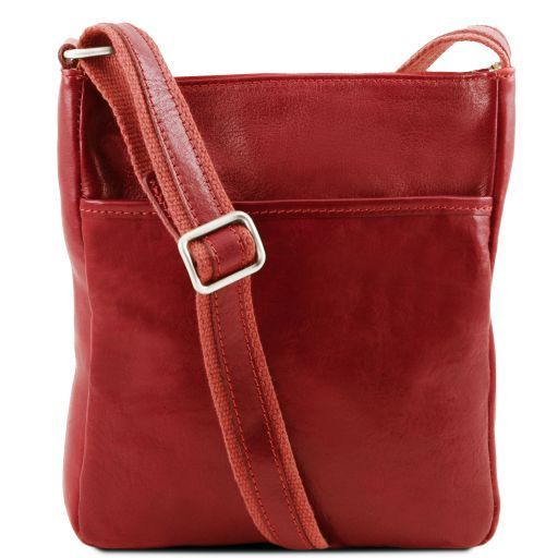 Jason Leather Crossbody Bag Red TL141300