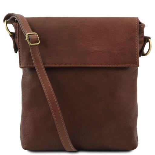 Morgan Leather shoulder bag Brown TL141511