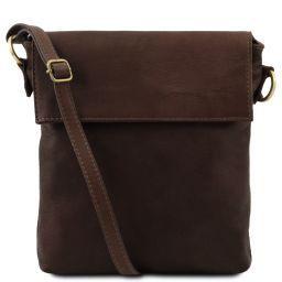 Morgan Leather shoulder bag Dark Brown TL141511