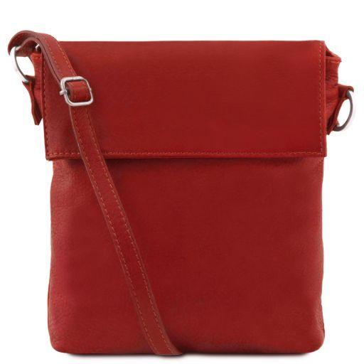 Morgan Umhängetasche aus Leder für Herren Rot TL141511